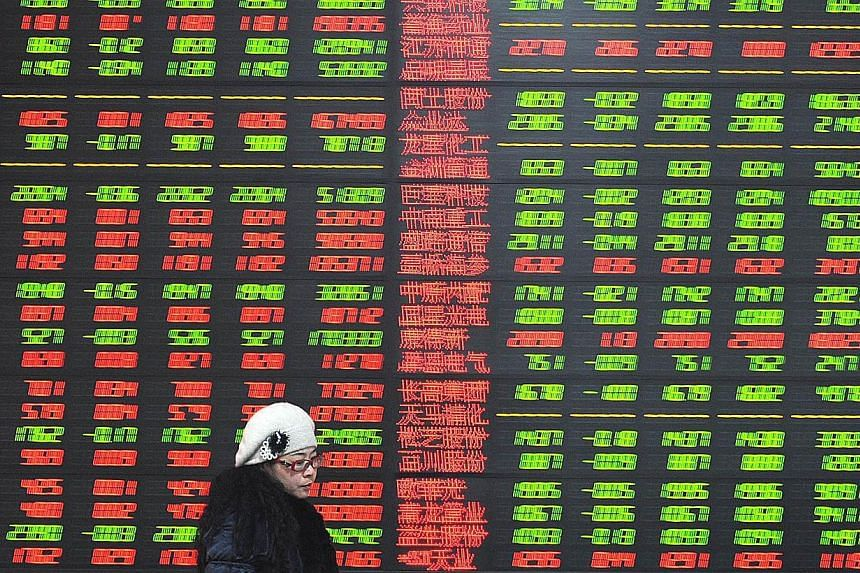 Almost two shares rose for each that fell, as the MSCI Asia Pacific Index added 0.2 per cent to 146.44 as of 9:08 a.m. in Tokyoon Monday. -- PHOTO: AFP