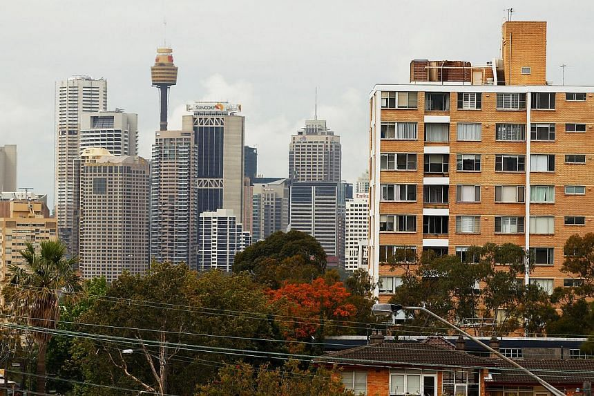 Residential buildings sit among trees in the suburb of Waverton in Sydney, Australia. Figures from property consultant CoreLogic RPData showed dwelling prices across all of Australia's major cities rose 0.3 per cent in February from January, to be 8.
