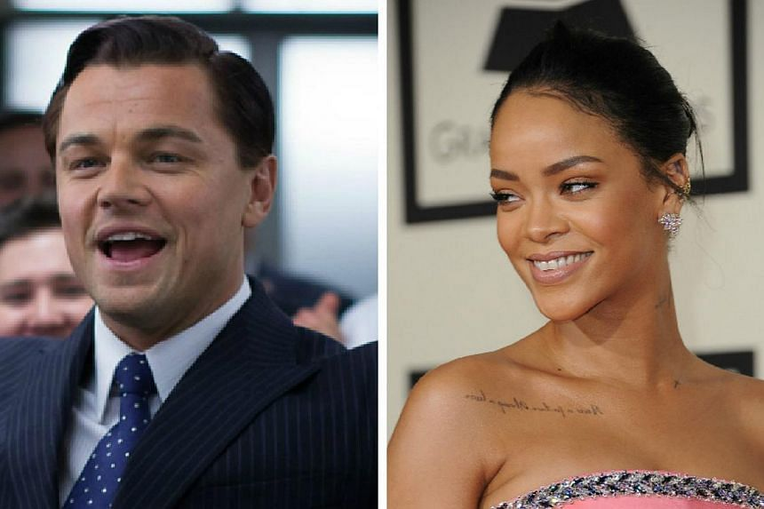 Pop diva Rihanna (right) and actor Leonardo DiCaprio were reportedly spotted at birthday bash together amid romance rumours. -- PHOTOS: GOLDEN VILLAGE, AFP