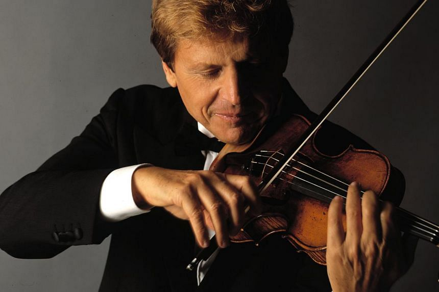 Italian maestro Uto Ughi plans to arrive in Singapore a few days before his concert to squeeze in a few practice sessions. -- PHOTO: COURTESY OF UTO UGHI