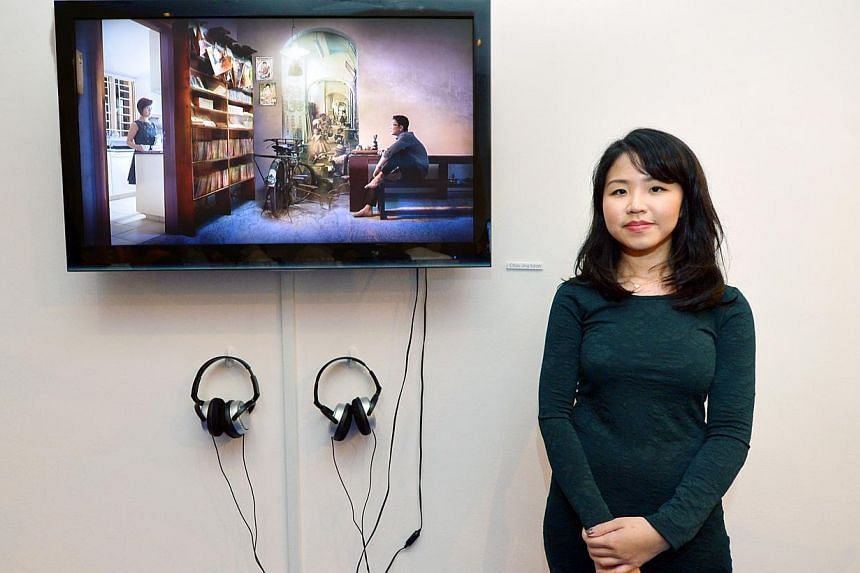 Japanese art collective Chim-pom, whose works respond to subjects such as the 2011 Fukushima nuclear plant disaster (above), was the overall winner at this year's Prudential Eye Awards. Artist Stefanie Hauger's Space Odyssey (above left) won the UOB