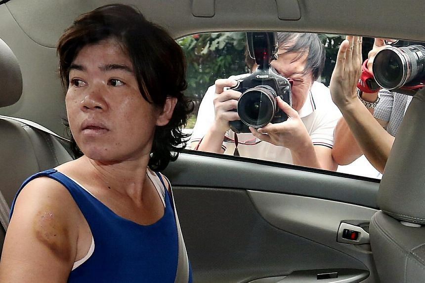Sukanya Praphuttha (pictured) is alleged to have caused the death of Mr Lee Yang Boo at a flat in North Bridge Road on Sunday. -- ST PHOTO: WONG KWAI CHOW
