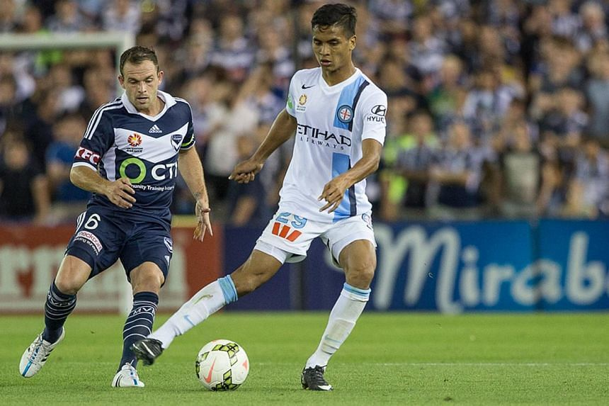 Footballer Safuwan Baharudin made headlines last week when he became the first Singaporean to score a goal in the A-League, the top flight in Australian soccer. -- PHOTO:MELBOURNE CITY FC