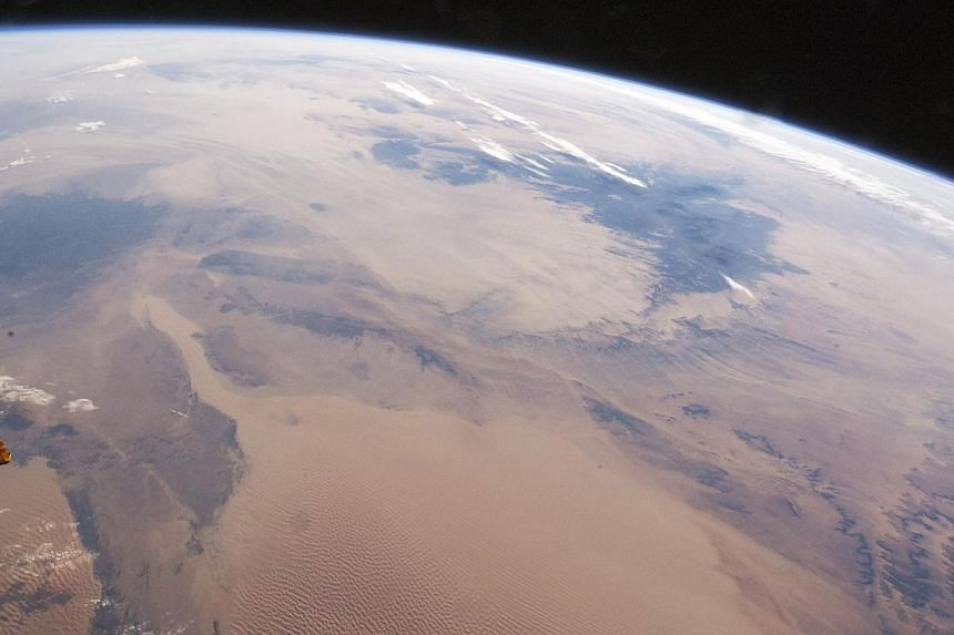 This NASA photo of the Sahara Desert taken from the International Space Station was released on Dec 29, 2014. Scientists have recently uncovered a link between the Sahara Desert and the Amazon rainforest. -- PHOTO: AFP