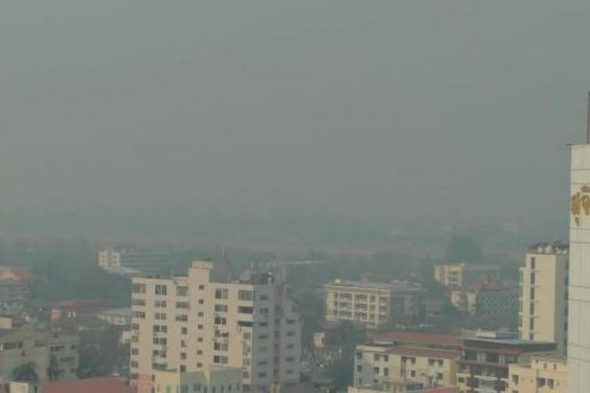 Northern Thailand was shrouded in smog as air pollution hit unhealthy levels in some areas, due to uncontrolled burning and wild fires. -- PHOTO: THE NATION/ASIA NEWS NETWORK