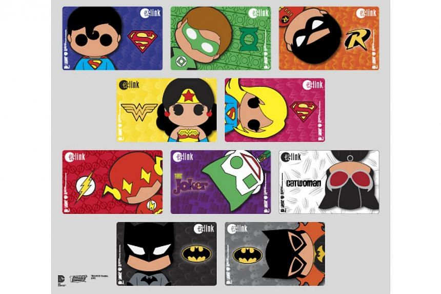 Special Justice League ez-link cards set. Holders of Adult Anonymous ez-link cards expiring on or before March 31 have four more weeks to exchange their cards for free before April 1. -- PHOTO: EZ-LINK PTE LTD