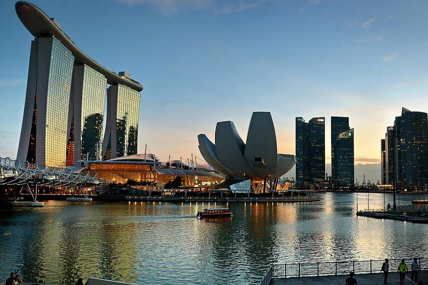 Singapore's Marina Bay area and financial district. Singapore is the world's most expensive city for the second year running, according to the Economist Intelligence Unit (EIU). -- ST PHOTO: KUA CHEE SIONG