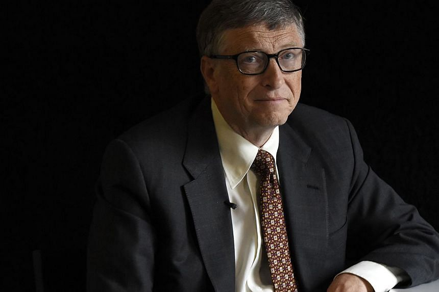 US billionaire philanthropist Bill Gates is pictured at an interview in Berlin on January 27. -- PHOTO: AFP