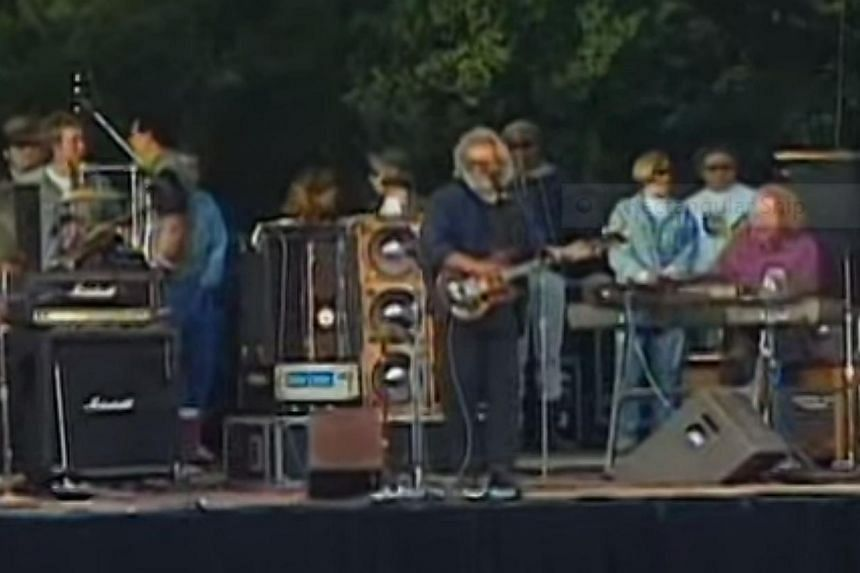 The Grateful Dead perform their hit Touch of Grey at a concert in California in a 1980s concert. -- PHOTO: YOUTUBE