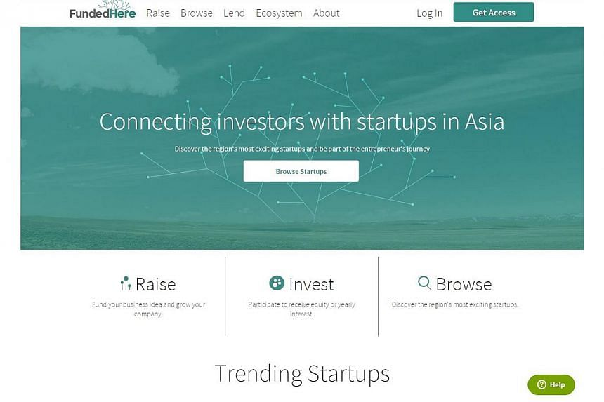 New equity crowdfunding platform FundedHere, launched by entrepreneur Andy Lim,is aimed facilitating funding for start-ups in Singapore and South-east Asia from as low as $5,000 for up to 12 months, either in terms of equity or venture debt.&nb