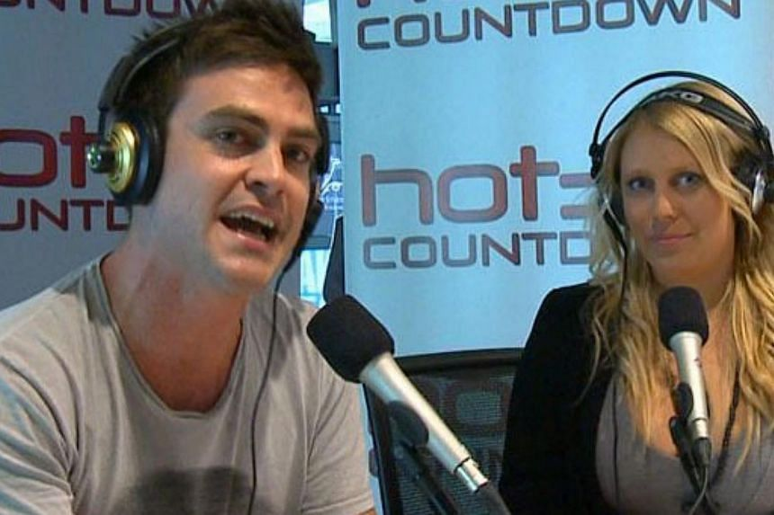 An undated file handout photo made available by Southern Cross Austereo on Dec 8, 2012 shows the Sydney, Australia, radio station 2DayFM presenters Mel Greig and Michael Christian. Confidential details about the Duchess of Cambridge's health were rev