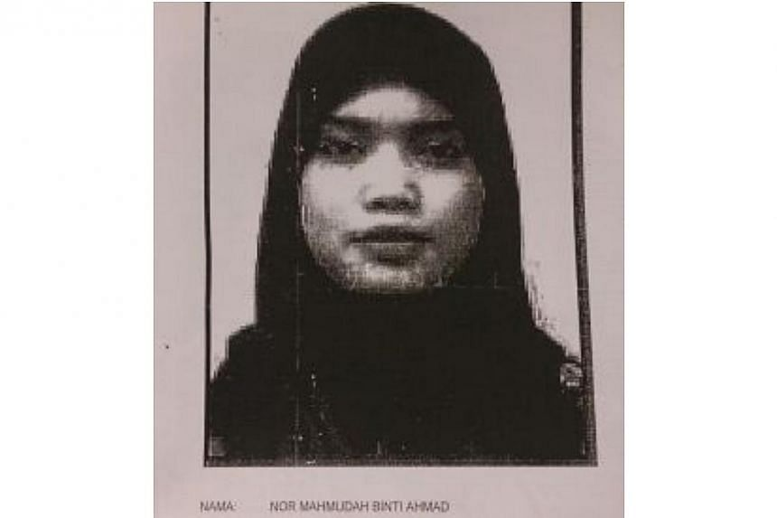 Nor Mahmudah, the wife of Muhamad Wanndy. The couple are believed to have travelled to Syria in January this year. -- PHOTO: THE STAR/ASIA NEWS NETWORK