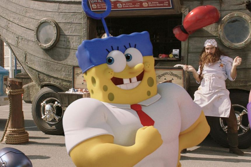 Cartoon character SpongeBob SquarePants (above) teams up with Plankton in his second movie. -- PHOTO: PARAMOUNT PICTURES ANIMATION