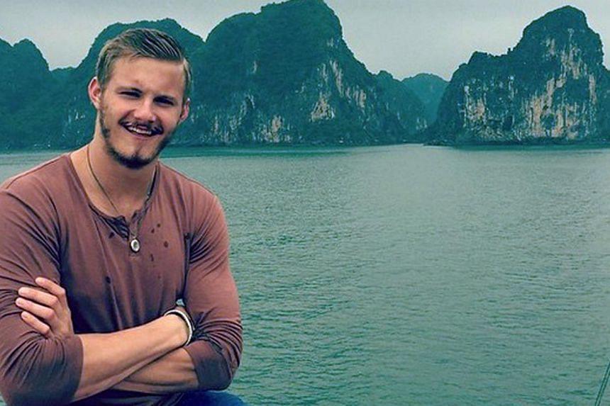Alexander Ludwig in Halong Bay, Vietnam.