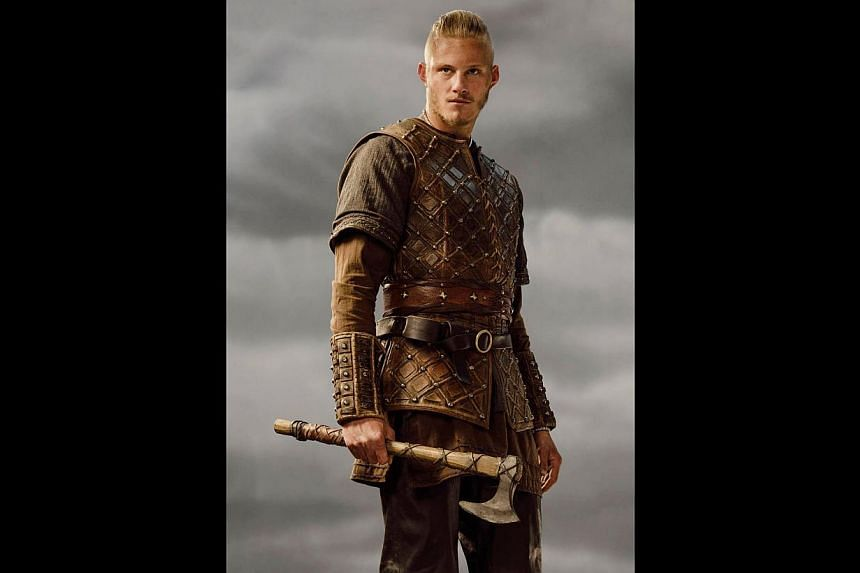Alexander Ludwig plays Bjorn Ironside (above), a formidable fighter and son of Norse warrior Ragnar Lothbrok. -- PHOTO: HISTORY CHANNEL