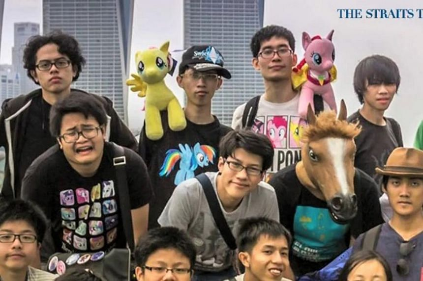 """""""Bronies"""", or male fans of the show My Little Pony. -- PHOTO: SCREENGRAB FROM RAZOR.TV"""