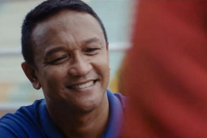 Movie still of Singapore football legend Fandi Ahmad as he stars in Ordinary, a film which tells the story of Fandi's rise from a kampong boy to one of Asia's most talented footballers. -- SCREENSHOT: FACEBOOK / SEA GAMES 2015