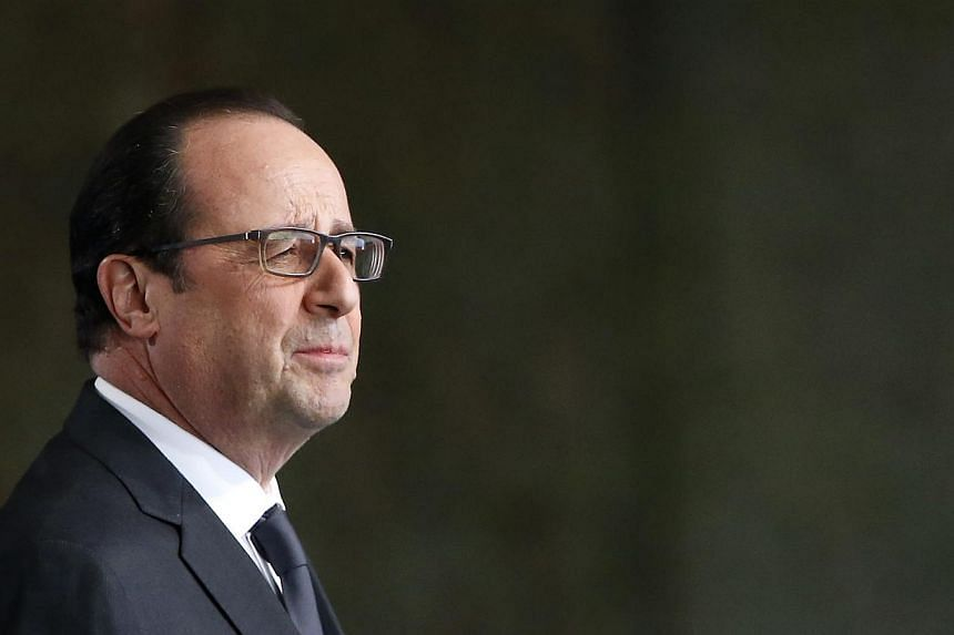 President Francois Hollande (above) will visit Cuba on May 11 in the first-ever such visit by a French head of state, the French presidency announced on Tuesday. -- PHOTO: EPA