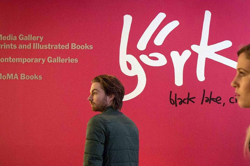 People attending the exhibition Bjork at the Museum of Modern Art in New York on March 3, 2015. -- PHOTO: REUTERS