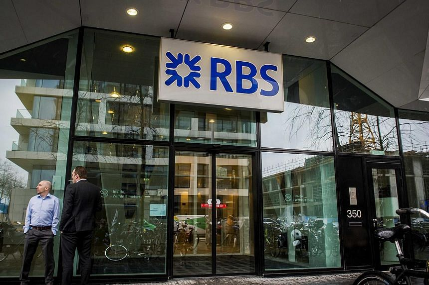 An exterior view of the Dutch head office of Royal Bank of Scotland at the Zuidas in Amsterdam, The Netherlands, March 3, 2015. -- PHOTO: EPA
