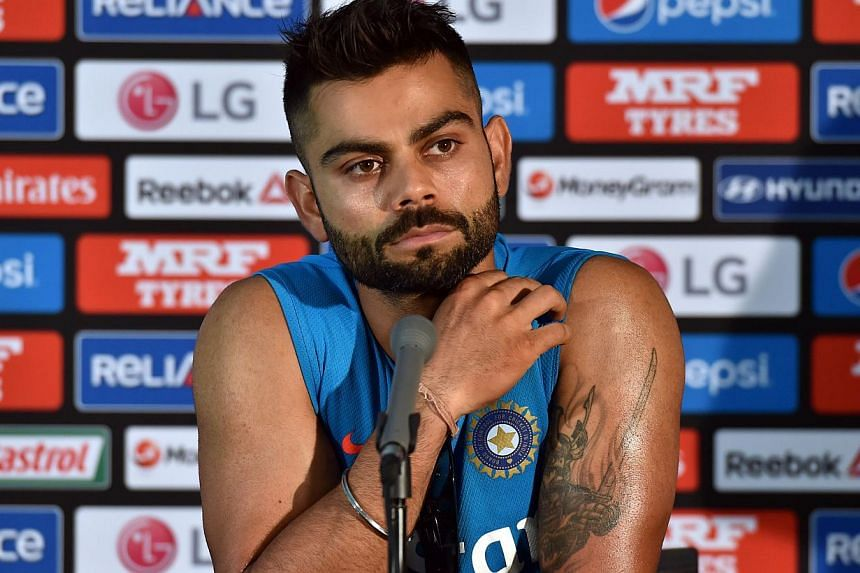 India's batsman Virat Kohli speaks during a press conference at the Melbourne Cricket Ground (MCG) on Feb 21, 2015. He has a reputation of being volatile and tetchy. -- PHOTO: AFP