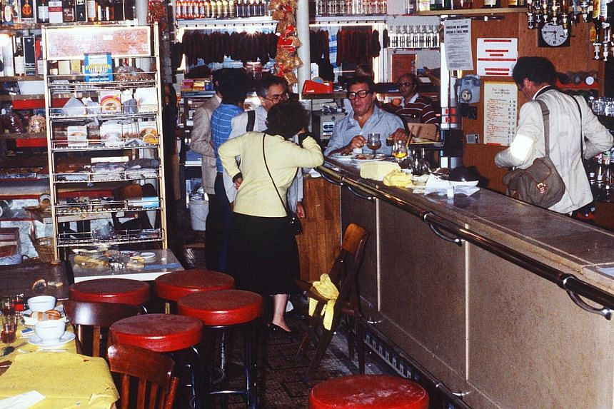 This file picture dated Aug 11, 1982, shows the interior of the Chez Jo Goldenberg restaurant two days after it was devastated by an attack by gunmen that threw a grenade into the restaurant and shot at customers with sub-machine guns, killing six cu