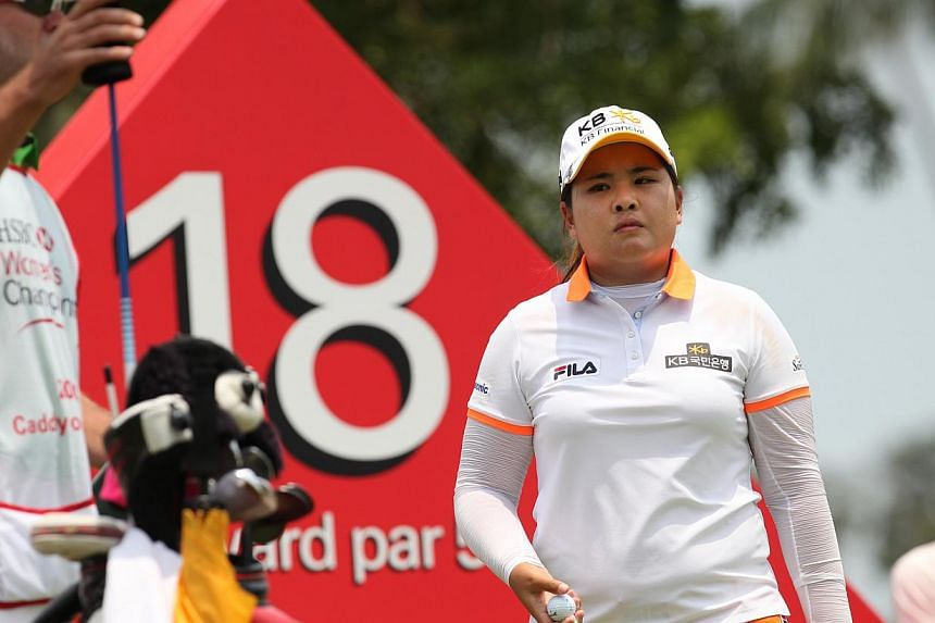 Free of the burden that comes with golf's world No. 1 ranking, South Korea's Park In Bee is looking forward to a more relaxed year on the LPGA Tour that she hopes will lead to an elusive British Open title. -- ST PHOTO: KEVIN LIM