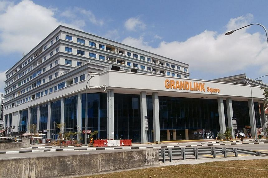 The basement retail unit atGrandlink Square, an 8-storey commercial-and-residential development located diagonally across from a commercial site in Paya Lebar Central, which has been put up for sale through the Government Land Sale (GLS) progra