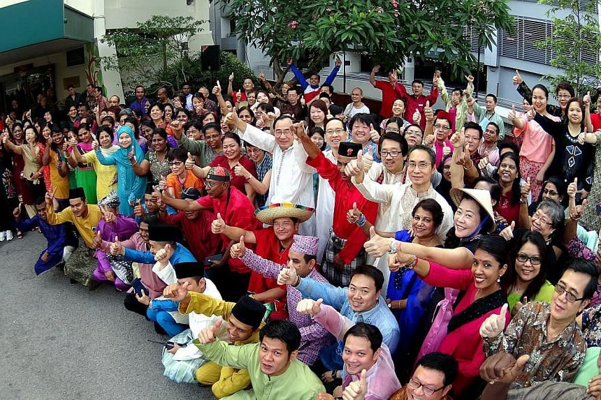More than 300 people took part in a mass walk event to commemorate Mount Alvernia Hospital's 54th anniversary. The hospital also announced plans to launch a fund-raising event to support the Yusof Ishak Professorship Fund  -- ST PHOTO:&nbsp