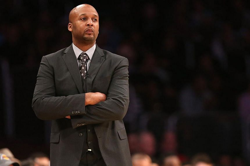 Brian Shaw (above) was fired as coach of the NBA's Denver Nuggets on Tuesday after going 56-85 in a season and a half in the job, the team announced on Tuesday. -- PHOTO: AFP