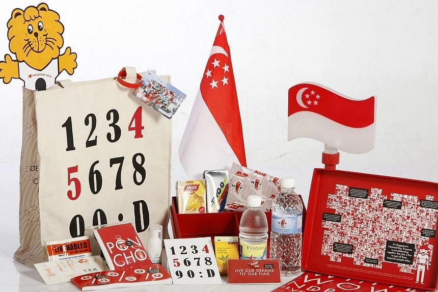 The contents of the National Day funpack in 2010.