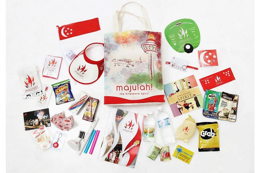 The contents of the National Day funpack in 2011.