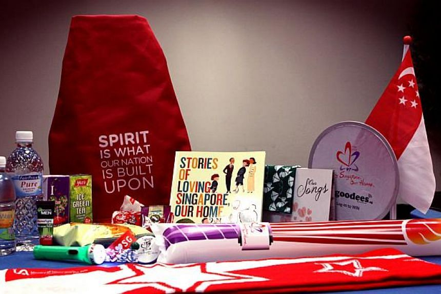 The contents of the National Day funpack in 2012.