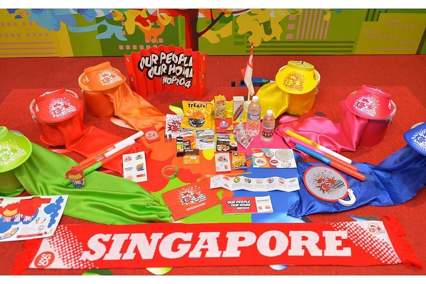 The contents of the National Day funpack in 2014.