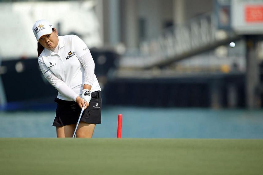 Former world No. 1s Tseng Ya-ni and Park In Bee fired matching six-under 66s on Thursday to share the opening-round lead at the HSBC Women's Champions. -- ST FILE PHOTO