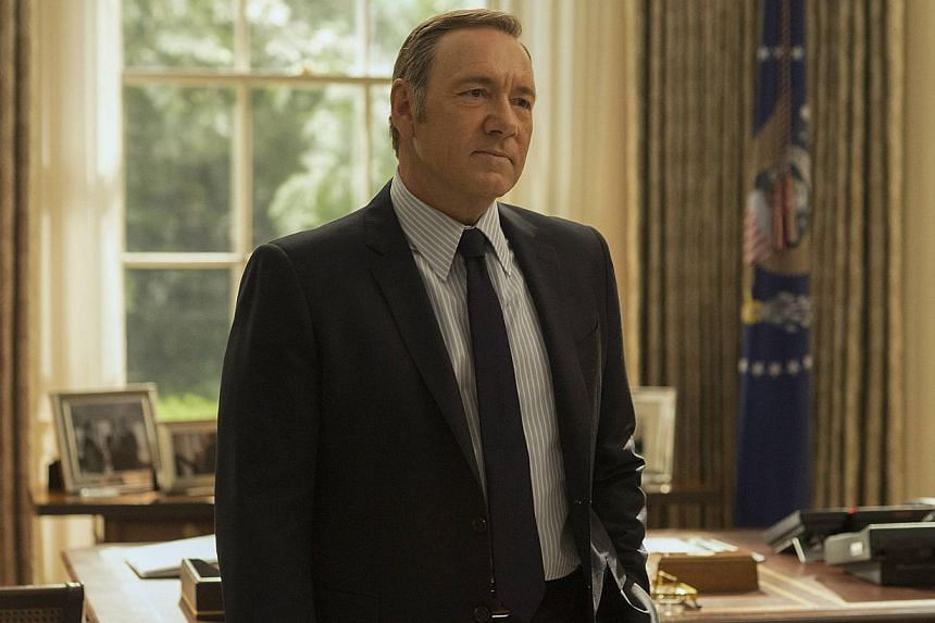 The baddie roles Kevin Spacey played include conniving politician Frank Underwood in House Of Cards (top) and a sadistic boss in Horrible Bosses (above left, with co-star Jason Bateman).