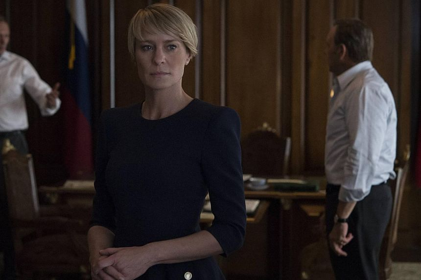Besides acting in House Of Cards, Robin Wright (above centre) has also directed several episodes of the drama.