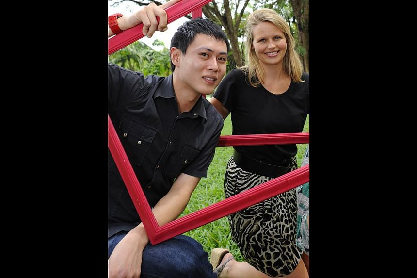 The new and old directors of the Affordable Art Fair: Mr Alan Koh and Ms Camilla Hewitson.