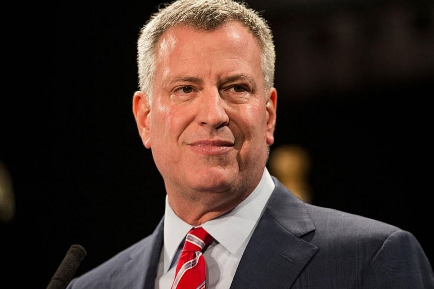 New York City will add two Muslim holidays to its public school calendars, making it the largest school district in the United States to do so, Mayor Bill de Blasio (above) said on Wednesday. -- PHOTO: AFP