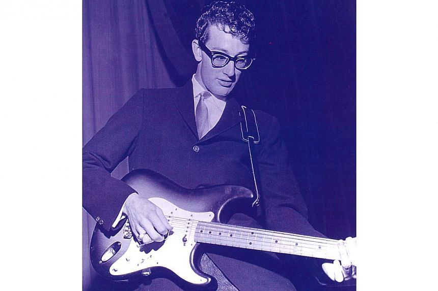 Rock 'n' roll singer-songwriter Buddy Holly, who died in a plane crash in 1959. -- PHOTO: IMG