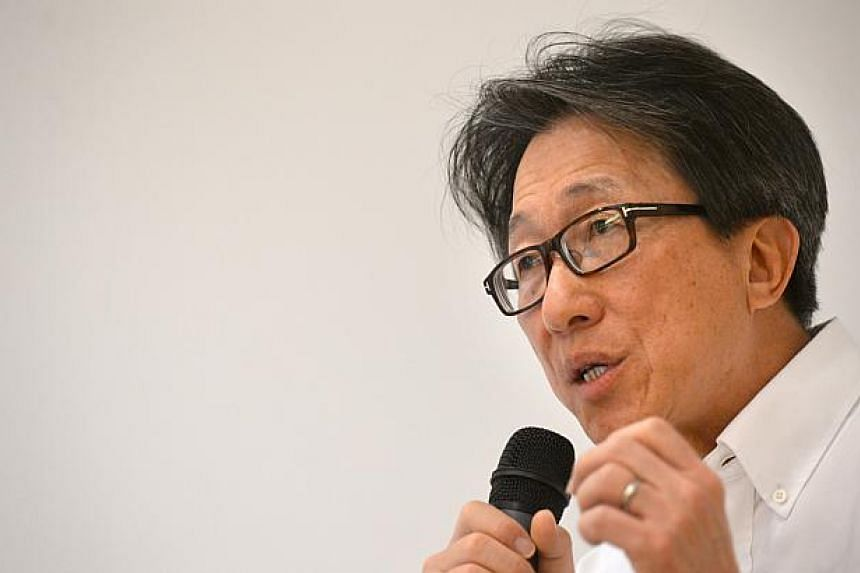 """Labour chief Lim Swee Say. During the Budget debate in Parliament on Mar 4, 2015, he calls for a push to """"futurise"""" Singapore, with the people seeking out change instead of yearning for things to remain as they are. -- ST PHOTO: NURIA LING"""