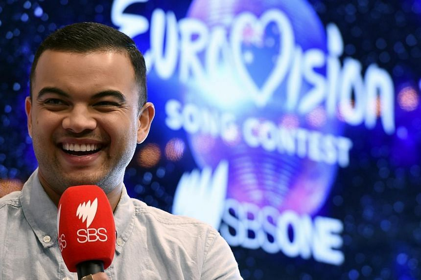 Australian singer Guy Sebastian at the media event to announce Australia's entrant to the Eurovision Song Contest at the Sydney Opera House in Sydney, Australia, on March 5, 2015. Sebastian will be Australia's representative at the Eurovision Song Co