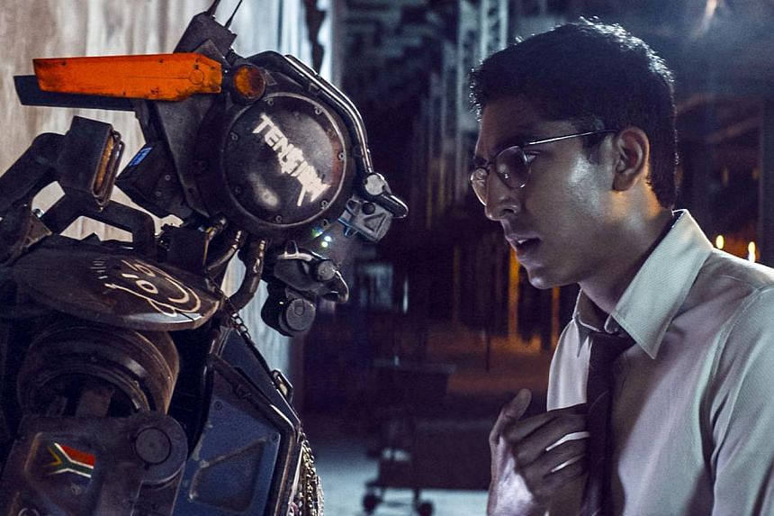 When Deon (Dev Patel) creates a new algorithm and uploads it into a robot, Chappie (Sharlto Copley) - who is capable of learning and feeling - is born. -- PHOTO: SONY PICTURES
