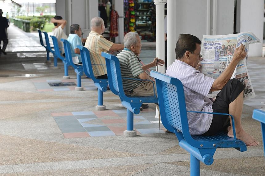 The cost of the Silver Support Scheme for the elderly is a drop in the ocean in terms of spending. -- ST PHOTO: CAROLINE CHIA