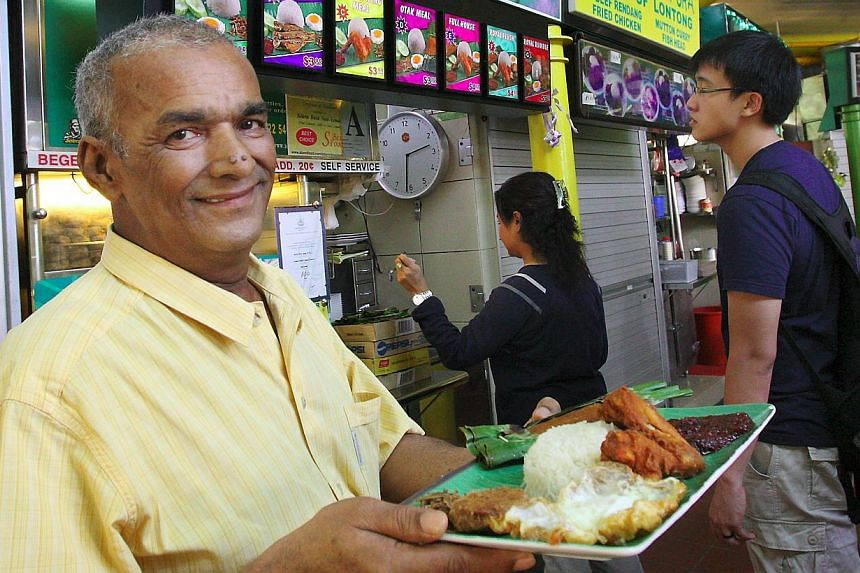 Mr Hassan Abdul Kadir also worked in other jobs for years before setting up his now-famous Selera Rasa stall.