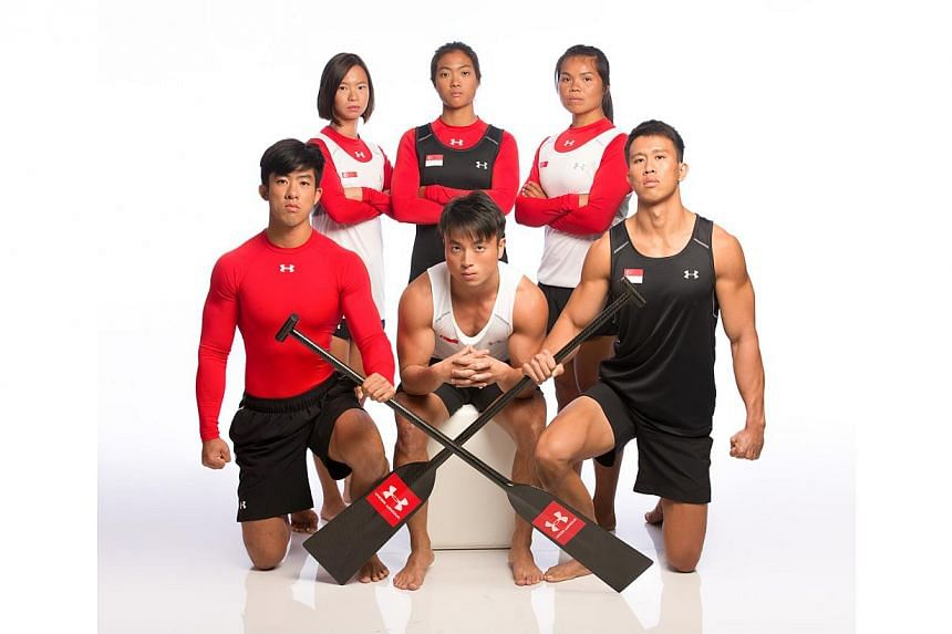 The Singapore Dragonboat team in their new underarmour uniform. -- PHOTO: BLESS INC ASIA