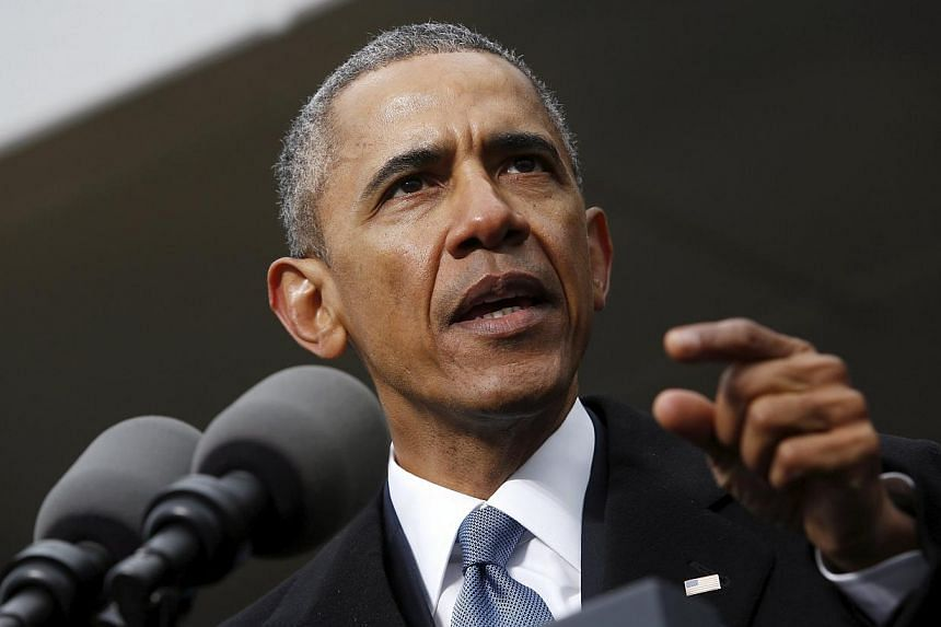 US President Barack Obama on Wednesday, April 1, 2015, issued an executive order creating a new authority to punish individuals and entities engaged in cyber attacks. -- PHOTO: REUTERS