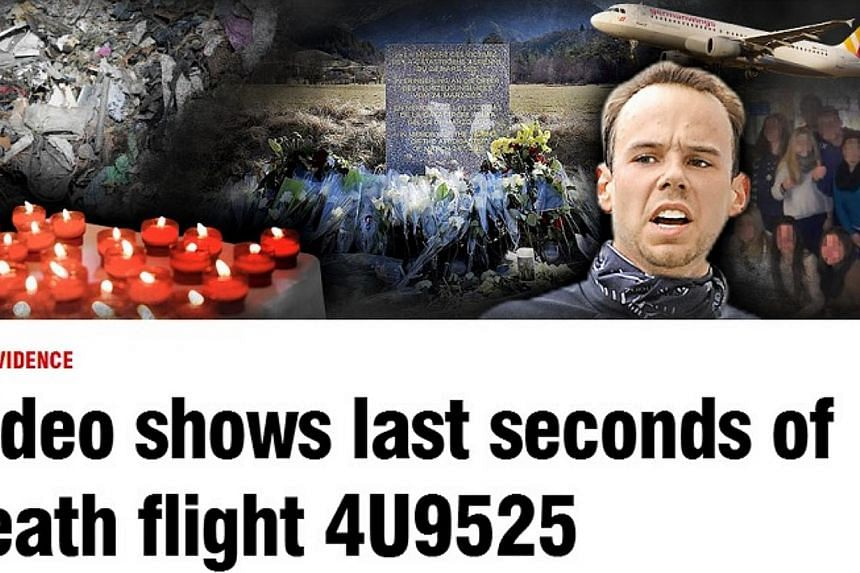 A screenshot from the website ofGerman newspaper Bild.A mobile phone with a nightmarish video of the final moments of Germanwings Flight 9525 was reportedly found in the wreckage, according to German newspaper Bild and France's Paris Matc
