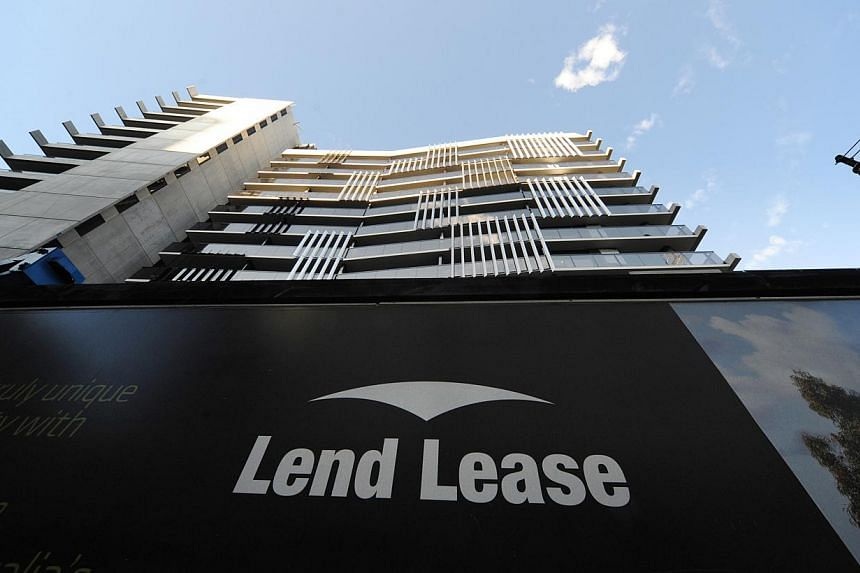 Property developer Lend Lease's logo and residential development in Melbourne. The Australian companysays it will own 30 per cent of the joint venture for a large mixed-use site in Paya Lebar which it just bagged with a bullish top bid of $1.67