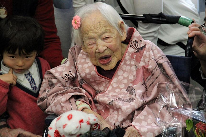 The world's oldest person, Misao Okawa, died in Japan on Wednesday, a month after celebrating her 117th birthday. -- PHOTO: EPA